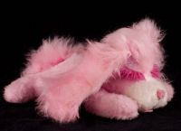Animal Fair Pink Puppy Dog Plush Lovey Stuffed Animal Jingle Tail Vtg